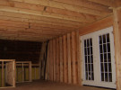 inside 2 story Addition to home in barn before drywall